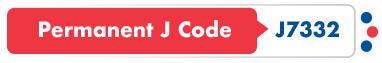 Permanent J Code J7332